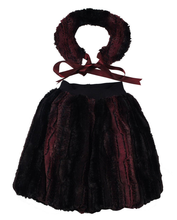 Teela Burgundy Cupcake Skirt - Young Timers Boutique
