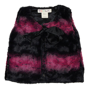 Teela Burgundy Fur Vest - Young Timers Boutique