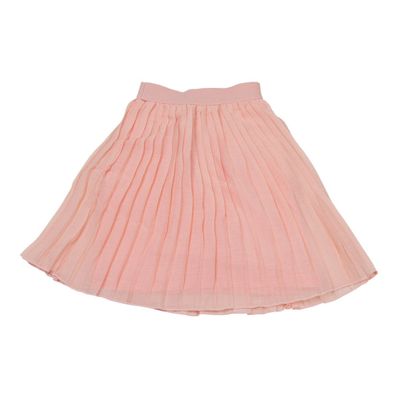 Teela Chiffon Pleat Blush Skirt - Young Timers Boutique