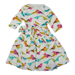 Teela Fit and Flare Birds Dress - Young Timers Boutique