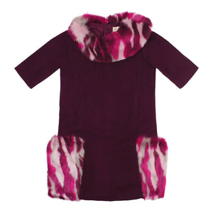 Teela Girls' AYA Fur Pocket Dress