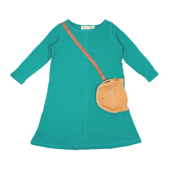 Teela Girls' Aqua Purse Dress