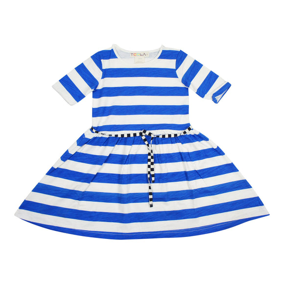 Teela Girls' Blue Stripe Dress