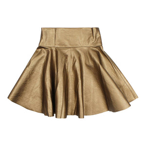 Teela Girls' Bronze Circle Metallic Skirt