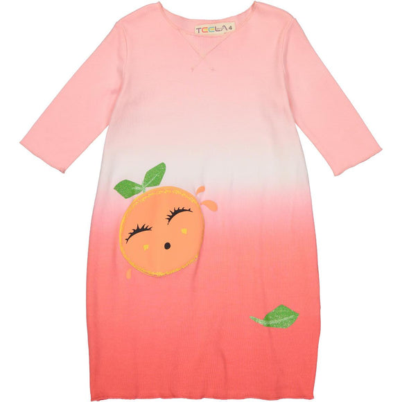 Teela Girls' Bubble Grapefruit Dress