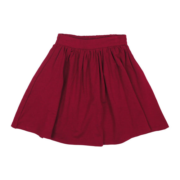 Teela Girls' Burgundy Basic Skirt