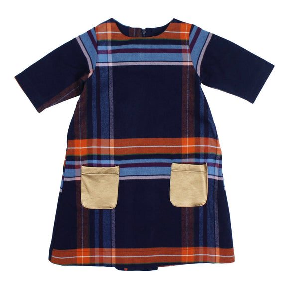Teela Girls' CLOE Plaid Shift Dress