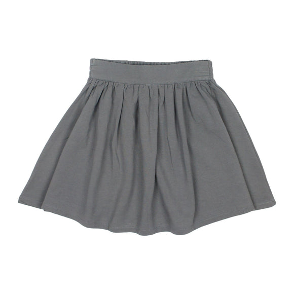 Teela Girls' Charcoal Basic Skirt