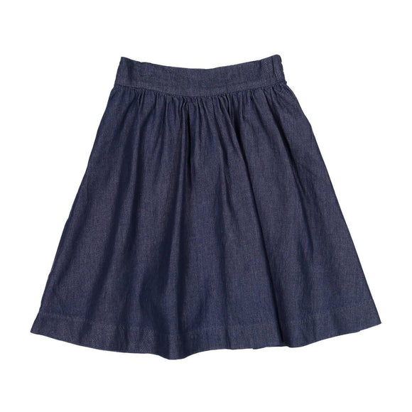Teela Girls' Dark Denim Circle Skirt