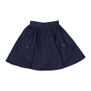 Teela Girls' Denim Button Skirt