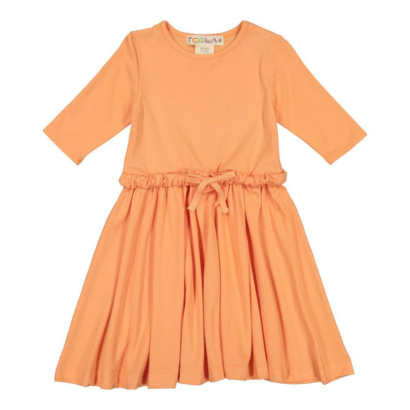 Drawstring Cantaloupe Dress