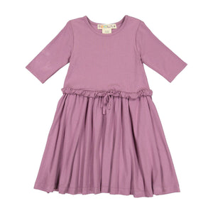 Teela Girls' Drawstring Orchid Dress