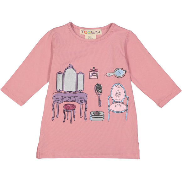 Teela Girls' Dress Up Print Tee