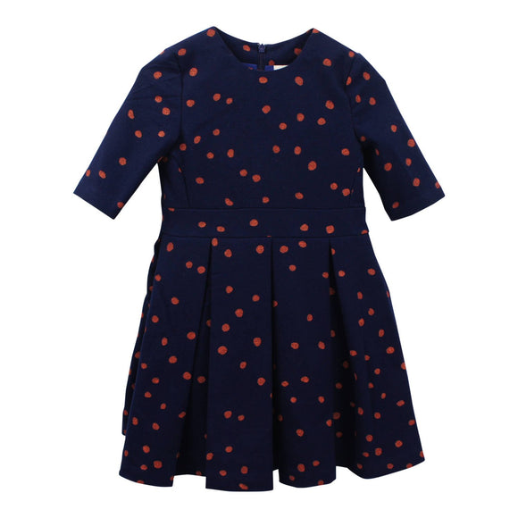 Teela Girls' EMA Polka Dot Box Pleat Dress