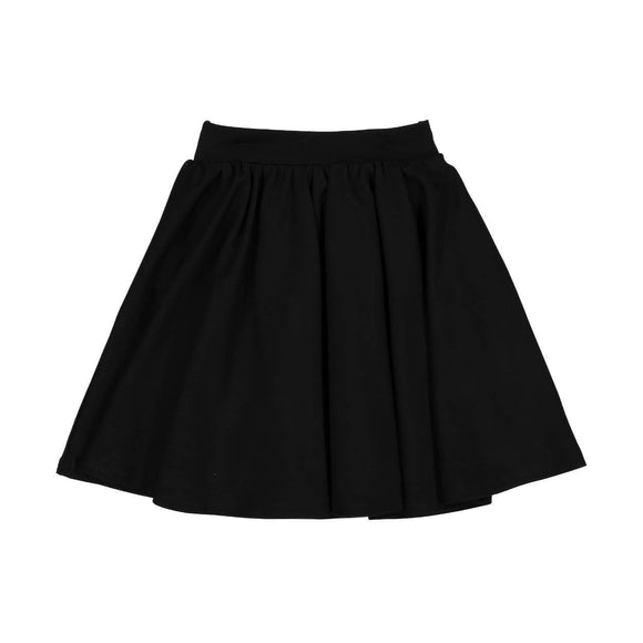 Teela Girls' GRACE Black Ponte Circle Skirt