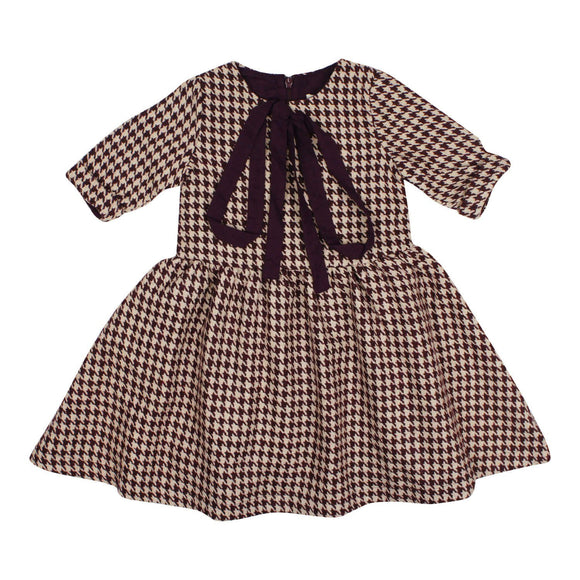 Teela Girls' MIA Waisted Houndstooth Dress
