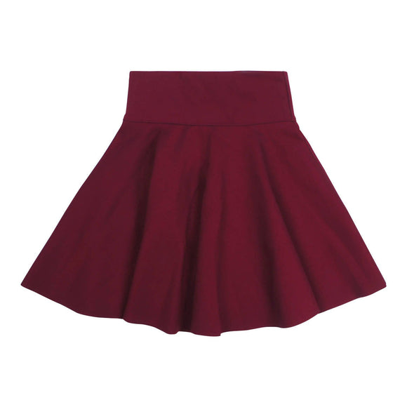Teela Girls' Merlot Circle Ponte Skirt