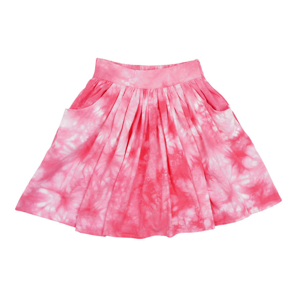 Teela Girls' Pink Tie Dye Skirt