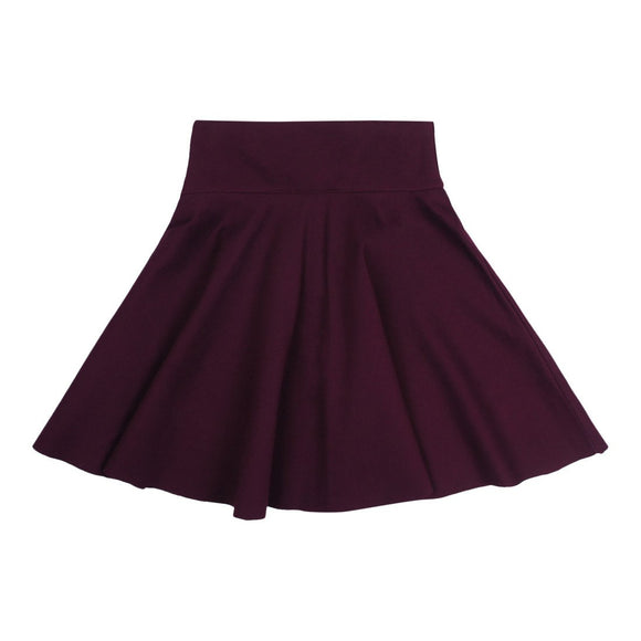 Teela Girls' Plum Circle Ponte Skirt