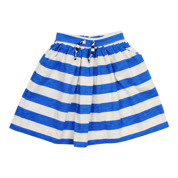Teela Girls' Royal Blue Stripe Skirt
