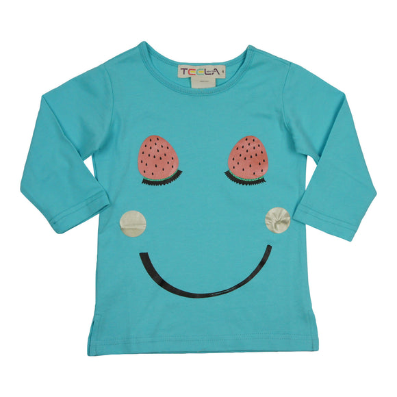 Teela Girls' Smiley T-Shirt