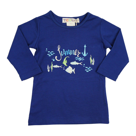 Teela Girls' Summer Print T-Shirt - FINAL SALE