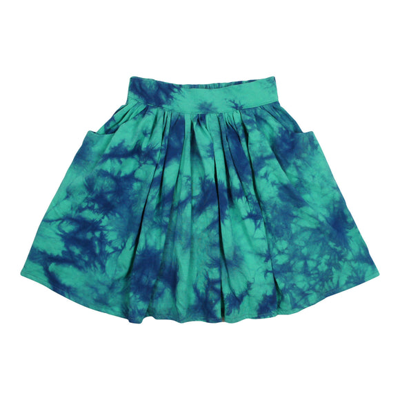 Teela Girls' Teal Tie Dye Skirt