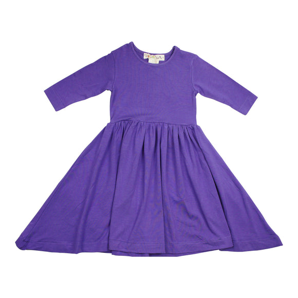 Teela Girls' Waist Purple Dress