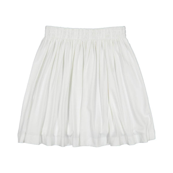 Teela Girls' White Summer Skirt