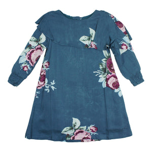 Teela Girls' ZOE Floral Cape Dress