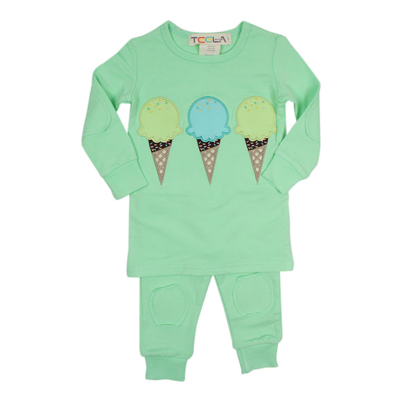 Teela Green Ice Cream Loungewear