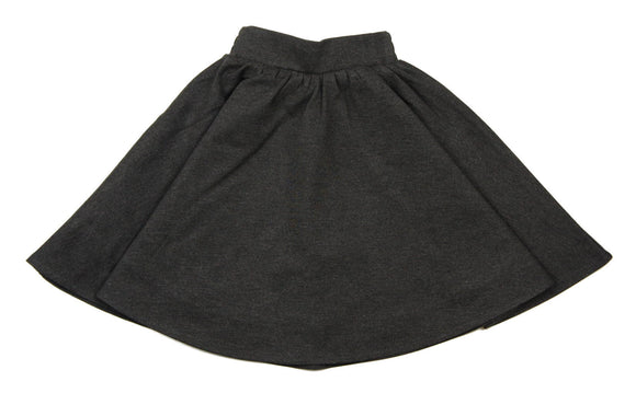 Teela Grey Ponte Circle Skirt - Young Timers Boutique