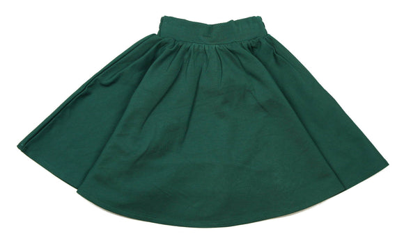 Teela Hunter Green Ponte Circle Skirt - Young Timers Boutique