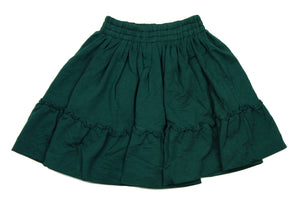 Teela Hunter Green Ruffle Skirt - Young Timers Boutique