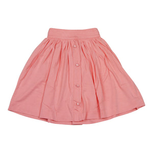 Teela Knit Button Blush Skirt - Young Timers Boutique