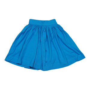 Teela Knit Button Turquoise Skirt - Young Timers Boutique
