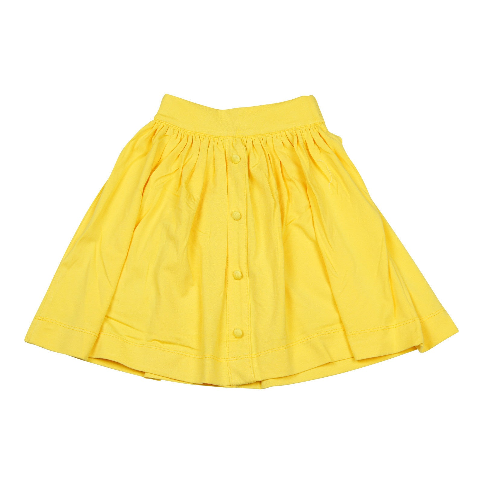 Teela Knit Button Yellow Skirt