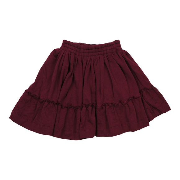 Teela Merlot Ruffle Skirt - Young Timers Boutique
