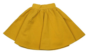 Teela Mustard Ponte Circle Skirt - Young Timers Boutique  - 1