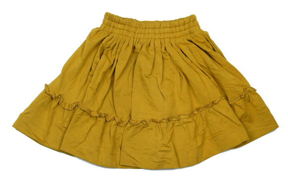 Teela Mustard Ruffle Skirt - Young Timers Boutique