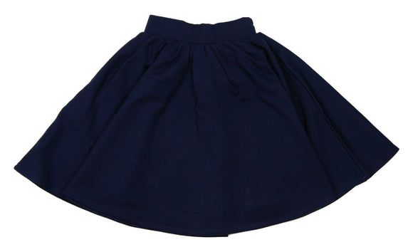 Teela Navy Ponte Circle Skirt - Young Timers Boutique