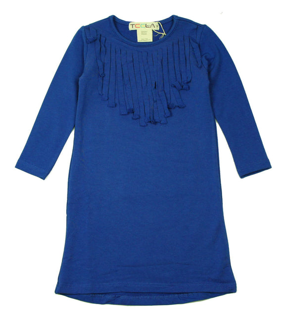 Teela Ocean Blue Fringe Dress - Young Timers Boutique