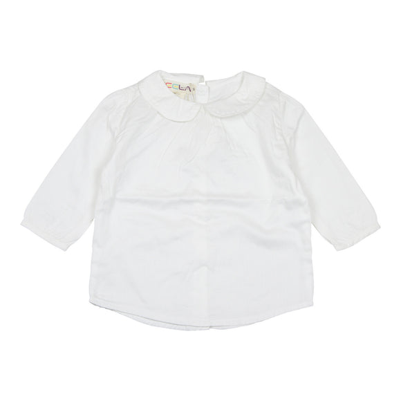 Teela Peter Pan Girls White Top - Young Timers Boutique