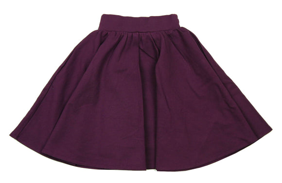 Teela Plum Ponte Circle Skirt - Young Timers Boutique