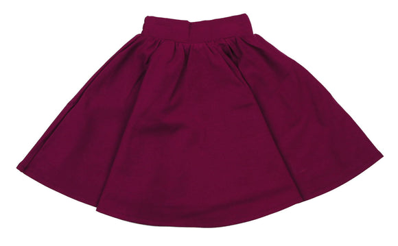 Teela Raspberrry Ponte Circle Skirt - Young Timers Boutique