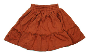 Teela Rust Ruffle Skirt - Young Timers Boutique