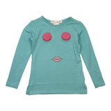 Teela Sea Green Face T-shirt - Young Timers Boutique  - 2