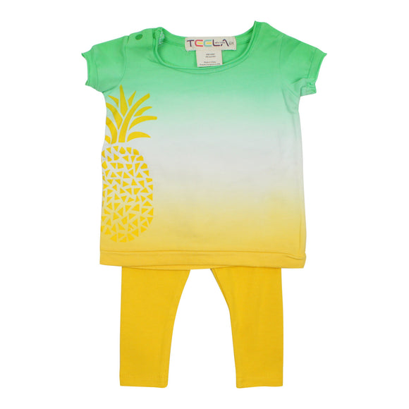 Teela Unisex Baby' Pineapple Legging Set