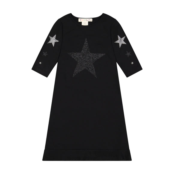 STAR nightgown - SILVER/GREY