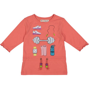 EXERCISE Girl's Drawstring Tshirt
